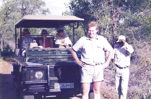 A strapping young Carl Olen on safari