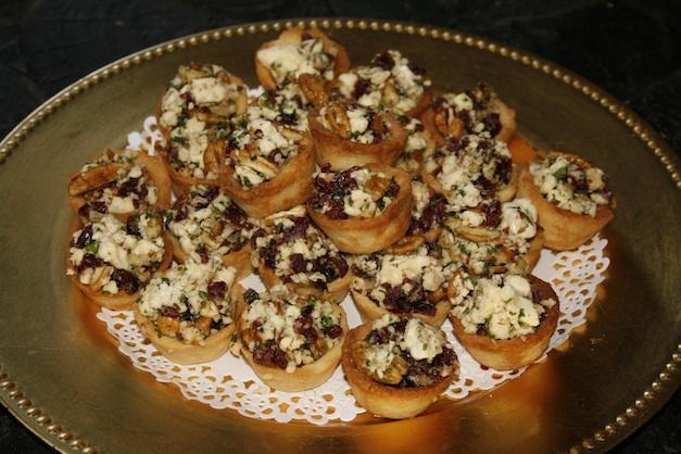 Gorgonzola pecan cranberry tartlets